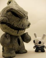 oogie Boogie and jack by Fail2Evolve