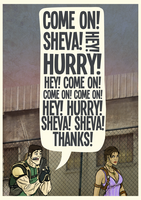 Chris and Sheva share some quality time! by Rathan-Marxx