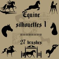 Equine Silhouettes 1 by rL-Brushes