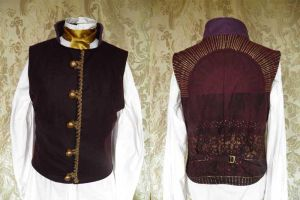 Steampunk-Victorian-Mad Hatter waistcoat PCW13-14 by JanuaryGuest