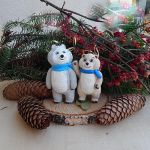 Polar bears christmas ornaments by koshka741