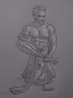 Figure Drawing #41 by AngelGanev