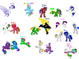 Most of my dragons,like ponyes O.o by trencik