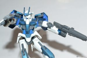 00 Gundam 1/144 ANA Inspired Color Scheme by angelprisz