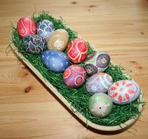 easter eggs in a basket 2 by two-ladies-stocks