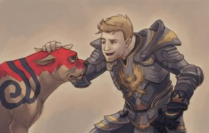 Alistair and Dog by Vamtaro