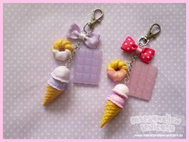 Pastel Ice-cream Keychain by Irudisu