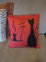Cat pillow by ladiane