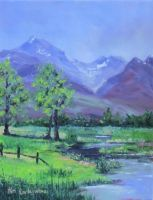 Paradise Valley Plein Air 6.28.2013 by Earleywine