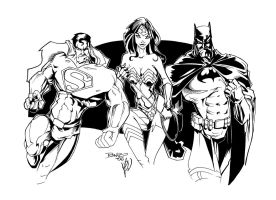 Supes Bat and WW by gz12wk