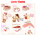 [CLOSED] ADOPT AUCTION 276-Love theme FoodPet by Piffi-adoptables