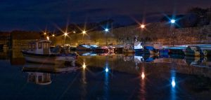 St Andrews Harbour by Night by Yslen