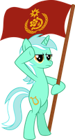 Lyra Hearstrings #1 Red Banner by VaderPL