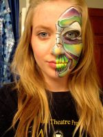 Monster Facepaint by KyleeGreider