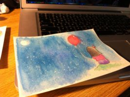 Miss You Card by debuccino