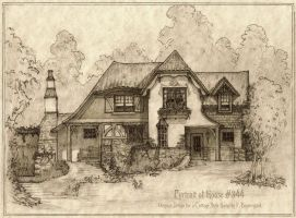 Portrait of House #344, A Storybook Cottage by Built4ever