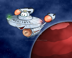 U.S.S. Constellation toon by BJ-O23