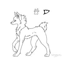 Free Canine Line Art 2 by Wiggans-Adopts