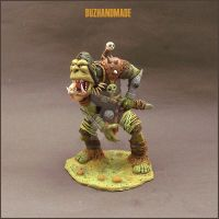 Battle ORC - Fantasy Sculpture by buzhandmade