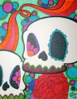 Two Sugar Skulls by ToniTiger415
