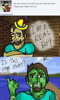 Ask Herobrine and Steve, Comic 4 by TheDovahBrine