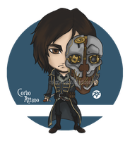Corvo Attano chibi by Rofer96