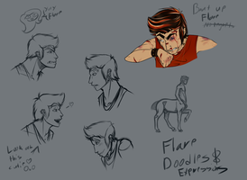 Hooman Flare Expressions Practice by 11IceDragon11