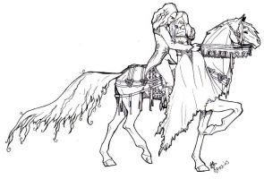 two elfs in love on a horsie by daisyamnell
