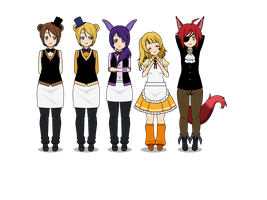Five Nights at Freddy's Humanized Part 1 by Kitty-senpai-crew