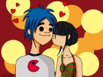 Noodle is kissing 2D by AidaSechem