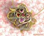 3D Beautiful heart pendant by BrotherlyFluff