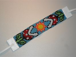 Super Mario Bros Piranha Plant beaded bracelet by kayanah