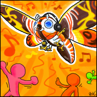 Oekaki: Dance Dance Mothra by Toasty-kun