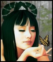 Lee and the Butterfly - Detail by vk