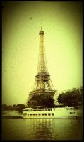 Eiffel Tower (old photo filtre) by LuthienDawel