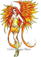 Phoenix  drawing by Lilith413