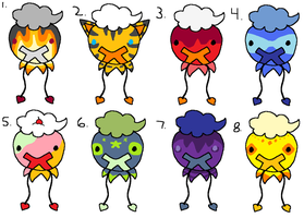 Drifloon Adoptables 2 by Heartiful