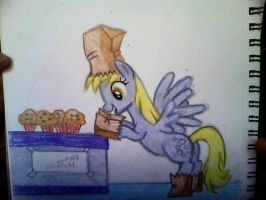 derpy loves her muffins by mistresscarrie