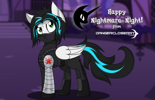 Happy Nightmare Night! [Winter Soldier costume] by DangerCloseArt