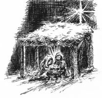 Christmas Birth by jbrenthill