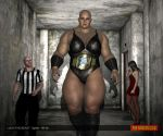 Lucia The Beast - fighter - 8ft 4in - backstage by theamazonclub