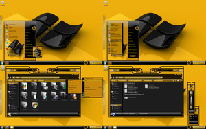 windows 7 theme black yelow by tono3022