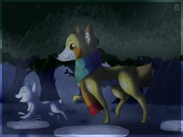In the rain by TlKl