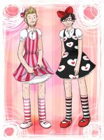 Rhett n Link in kiddy dresses by Chocoreaper