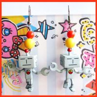Robot Earrings by cherryboop