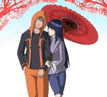 Naruhina: Lovely walk by mattwilson83