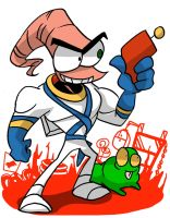 Earthworm Jim and Snott by EZstrongs