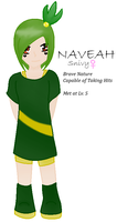 Naveah The Snivy - Gijinka by angelofcryinghearts