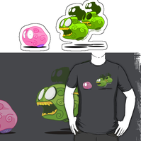 Brain Zombie T-Shirt by SEspider