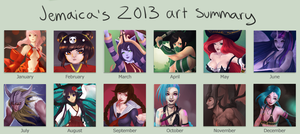 Jemaica's 2013 art summary! by jemaica